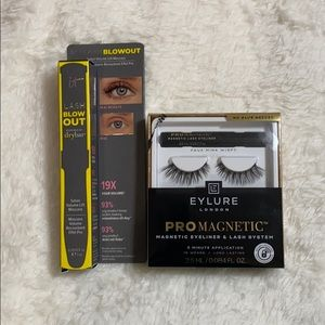 blow out mascara x eylure promagnetic lashes